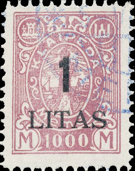 Memel_Klaipeda_1923_1L_on_1000m_Forgery