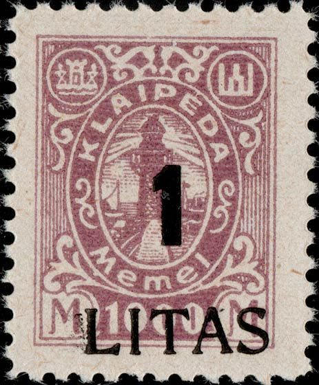 Memel_Klaipeda_1923_1L_on_1000m_Genuine