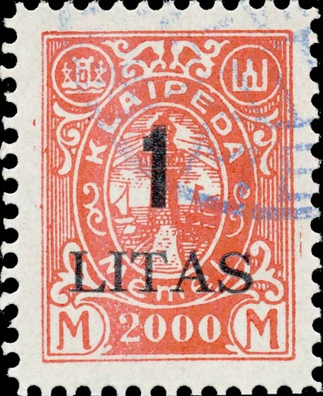 Memel_Klaipeda_1923_1L_on_2000m_Forgery
