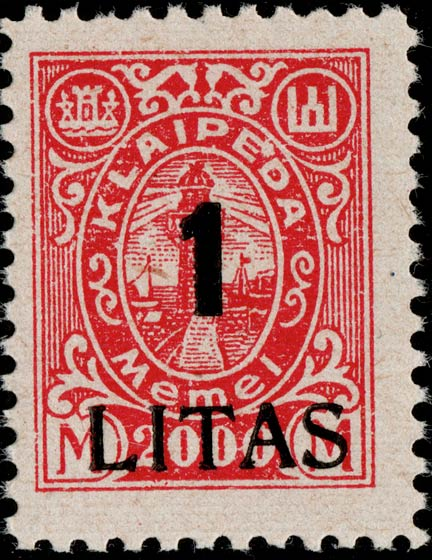 Memel_Klaipeda_1923_1L_on_2000m_Genuine