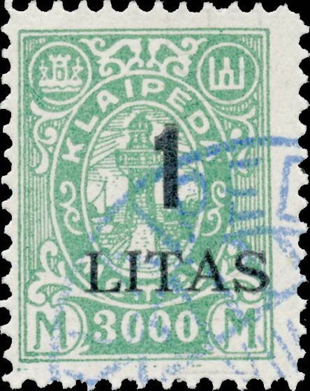 Memel_Klaipeda_1923_1L_on_3000m_Forgery