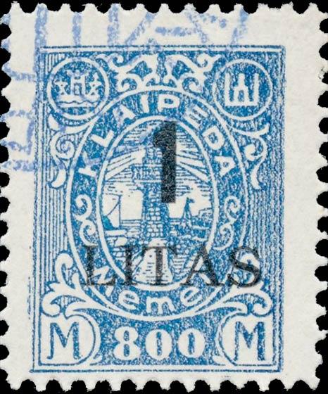 Memel_Klaipeda_1923_1L_on_800m_Forgery