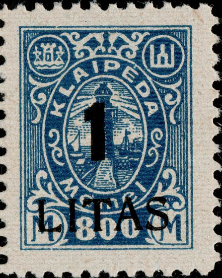Memel_Klaipeda_1923_1L_on_800m_Genuine