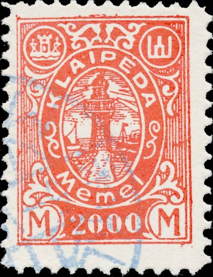 Memel_Klaipeda_1923_2000mark_Forgery