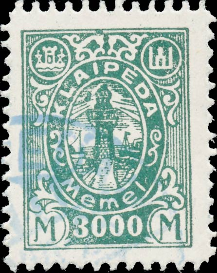 Memel_Klaipeda_1923_3000mark_Forgery