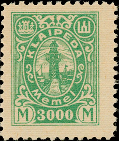 Memel_Klaipeda_1923_3000mark_Genuine