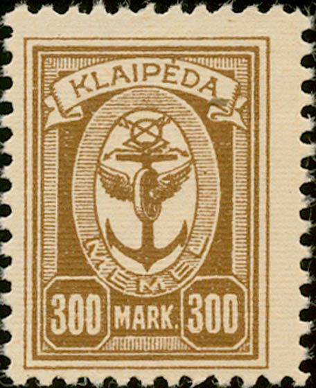 Memel_Klaipeda_1923_300mark_Genuine