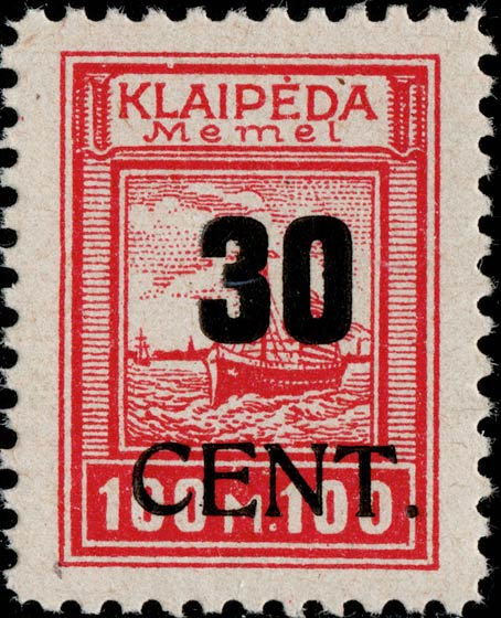 Memel_Klaipeda_1923_30c_on_100m_Genuine