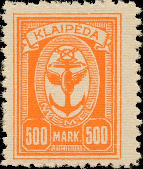 Memel_Klaipeda_1923_500mark_Genuine