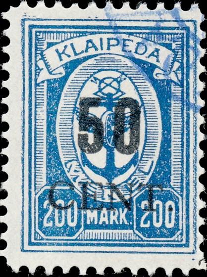 Memel_Klaipeda_1923_50c_on_200m_Forgery
