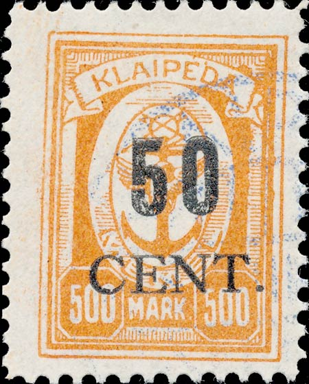 Memel_Klaipeda_1923_50c_on_500m_Forgery