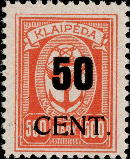 Memel_Klaipeda_1923_50c_on_500m_Genuine