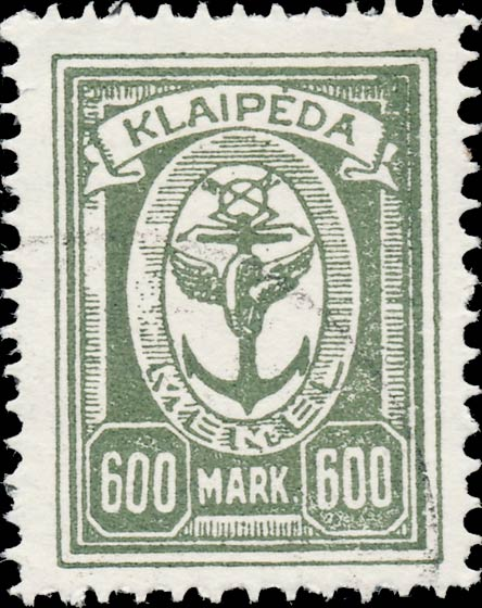 Memel_Klaipeda_1923_600mark_Forgery