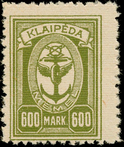 Memel_Klaipeda_1923_600mark_Genuine