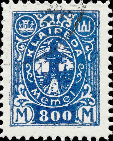 Memel_Klaipeda_1923_800mark_Forgery