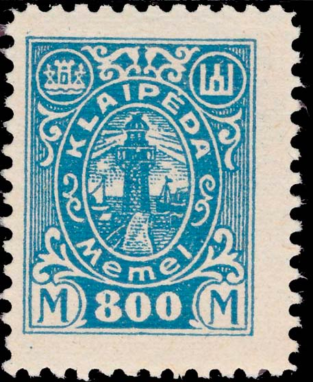 Memel_Klaipeda_1923_800mark_Genuine