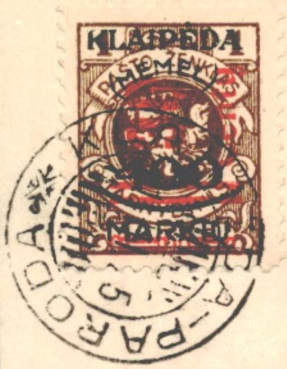 Memel_Paroda_Forged_Postmark