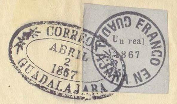 Mexico_1867_Locals_Guadalajara_1r_Forgery2