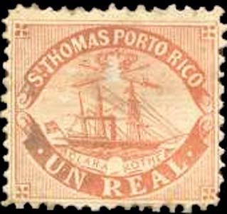 Puerto_Rico_1869_St.Thomas_Clara-Rothe_1r_Bogus