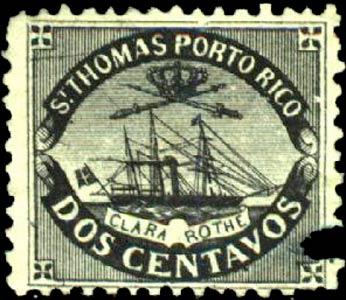 Puerto_Rico_1869_St.Thomas_Clara-Rothe_2c_Bogus