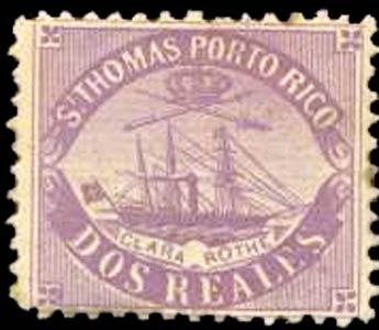 Puerto_Rico_1869_St.Thomas_Clara-Rothe_2r_Bogus