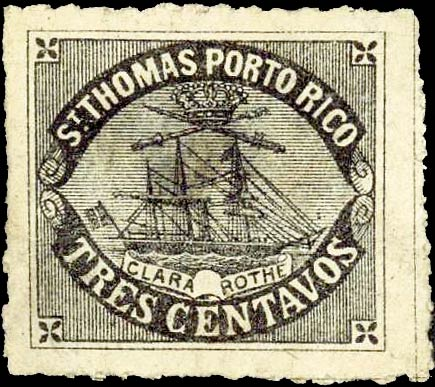 Puerto_Rico_1869_St.Thomas_Clara-Rothe_3c_Bogus_Forgery2