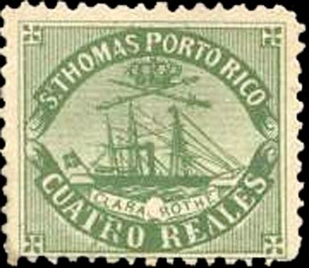 Puerto_Rico_1869_St.Thomas_Clara-Rothe_4r_Bogus
