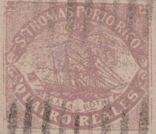 Puerto_Rico_1869_St.Thomas_Clara-Rothe_4r_Bogus_Forgery