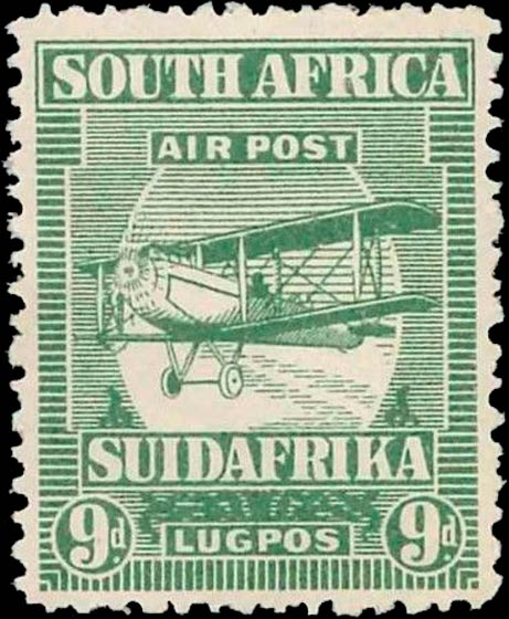 South_Africa_1925_Airmail_9d_Genuine