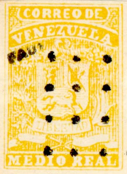Venezuela_1859_Coat-of-Arms_Medio_Real_Fournier_Forgery