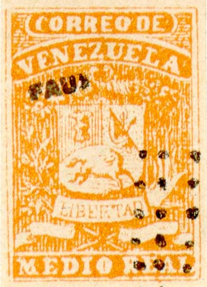 Venezuela_1859_Coat-of-Arms_Medio_Real_Fournier_Forgery2