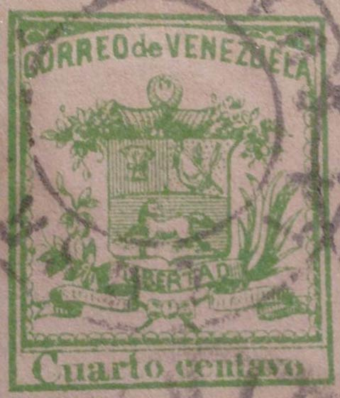 Venezuela_1862_Coat-of-Arms_Cuarto_Centavo_Forgery