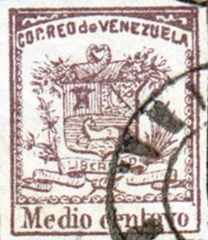 Venezuela_1862_Coat-of-Arms_Medio_Centavo_Forgery2