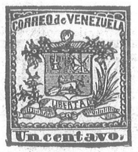 Venezuela_1862_Coat-of-Arms_Un_Centavo_Torres_illustration