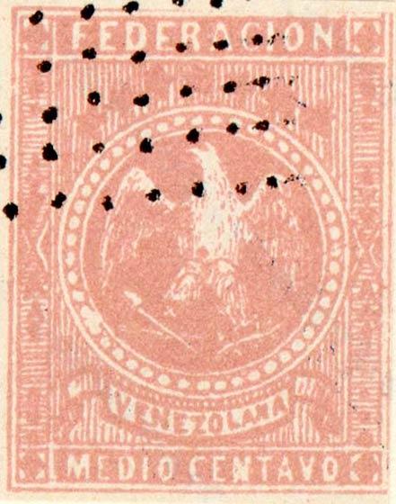 Venezuela_1863_Eagle_Medio_Centavo_Fournier_Forgery