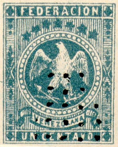 Venezuela_1863_Eagle_Un_Centavo_Fournier_Forgery