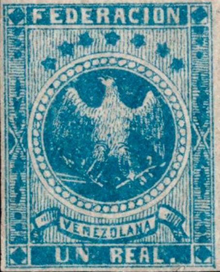 Venezuela_1863_Eagle_Un_Real_Genuine