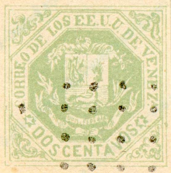 Venezuela_1865_Coat-of-Arms_Dos_Centavos_Fournier_Forgery