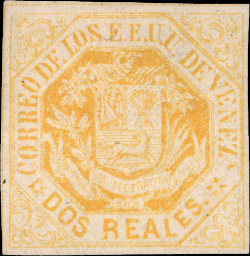 Venezuela_1865_Coat-of-Arms_Dos_Reales_Genuine