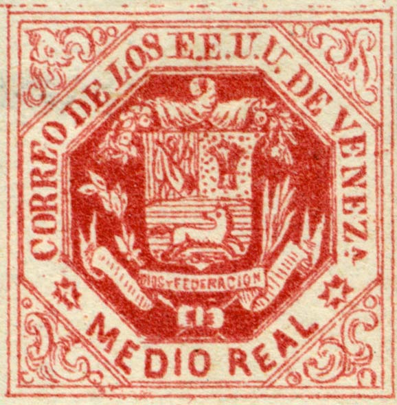 Venezuela_1865_Coat-of-Arms_Medio_Real_Forgery