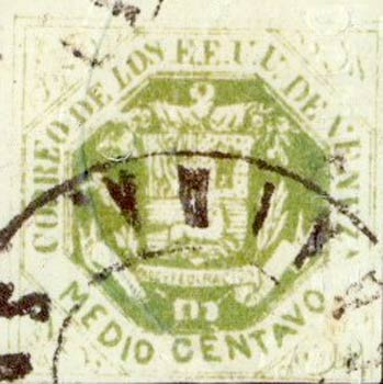 Venezuela_1865_Coat-of-Arms_Medio_Real_Postal_Forgery