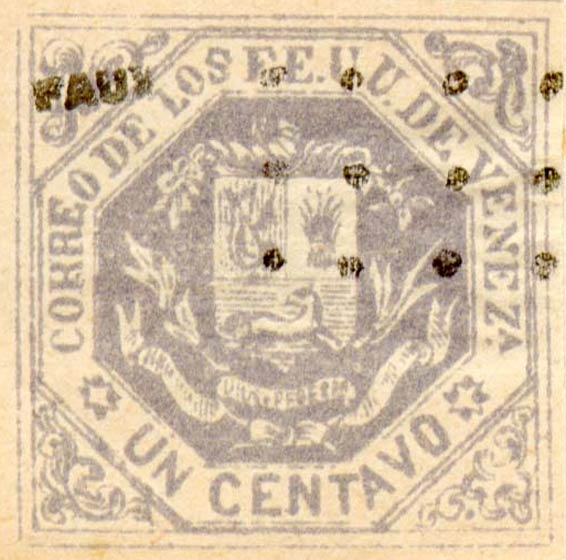 Venezuela_1865_Coat-of-Arms_Un_Centavo_Fournier_Forgery