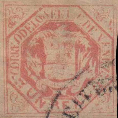 Venezuela_1865_Coat-of-Arms_Un_Real_Forgery