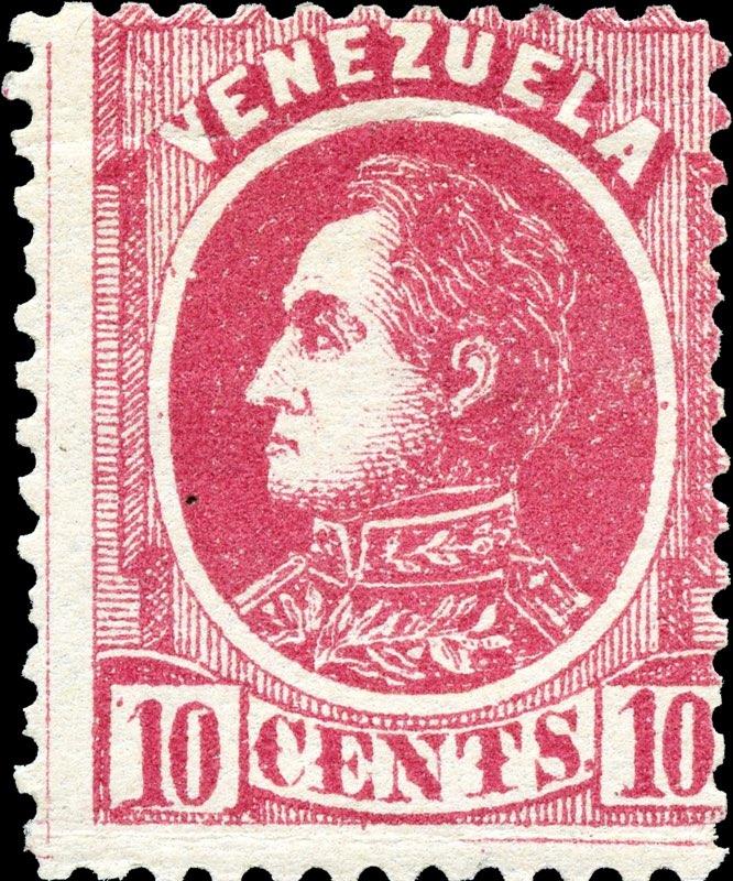 Venezuela_1880_Bolivar_10c_Genuine