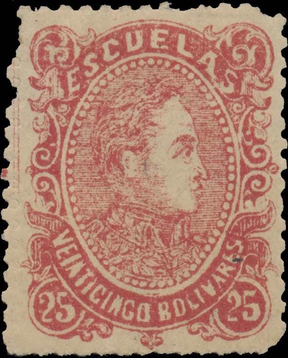 Venezuela_1880_Bolivares_25c_Genuine