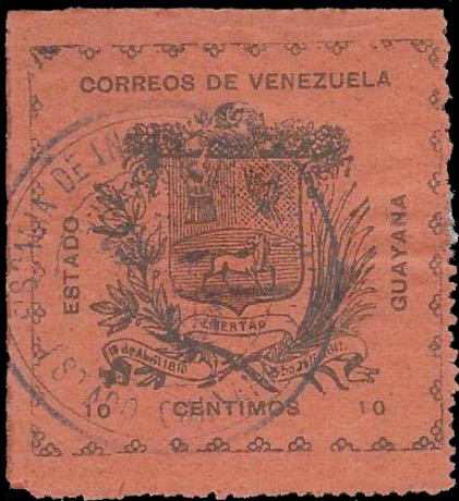 Venezuela_1903_Guayana-and-Maturin_10c_Forgery