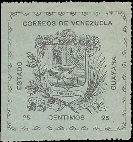 Venezuela_1903_Guayana-and-Maturin_25c_Forgery