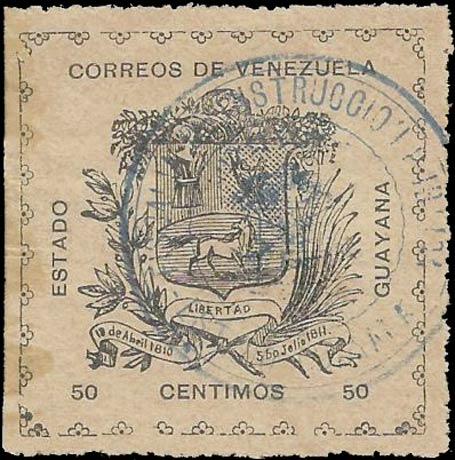 Venezuela_1903_Guayana-and-Maturin_50c_Forgery