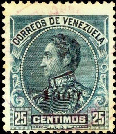 Venezuela_1900_25c_Forged_Overprint