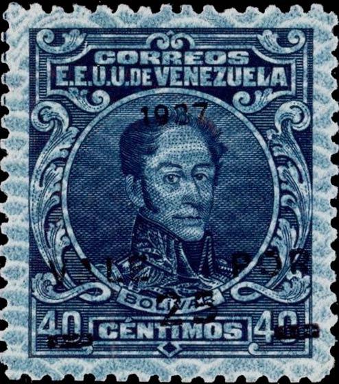 Venezuela_Bolivar_1937_Forged_Overprint